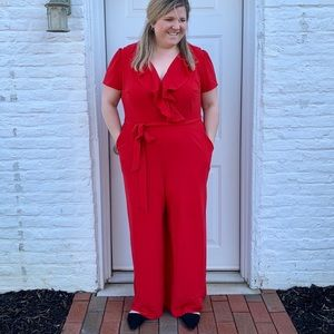 Lane Bryant Red Formal Jumpsuit